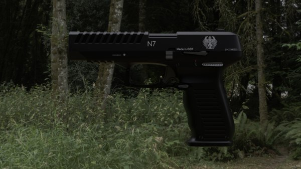 n7 pistol 3D model