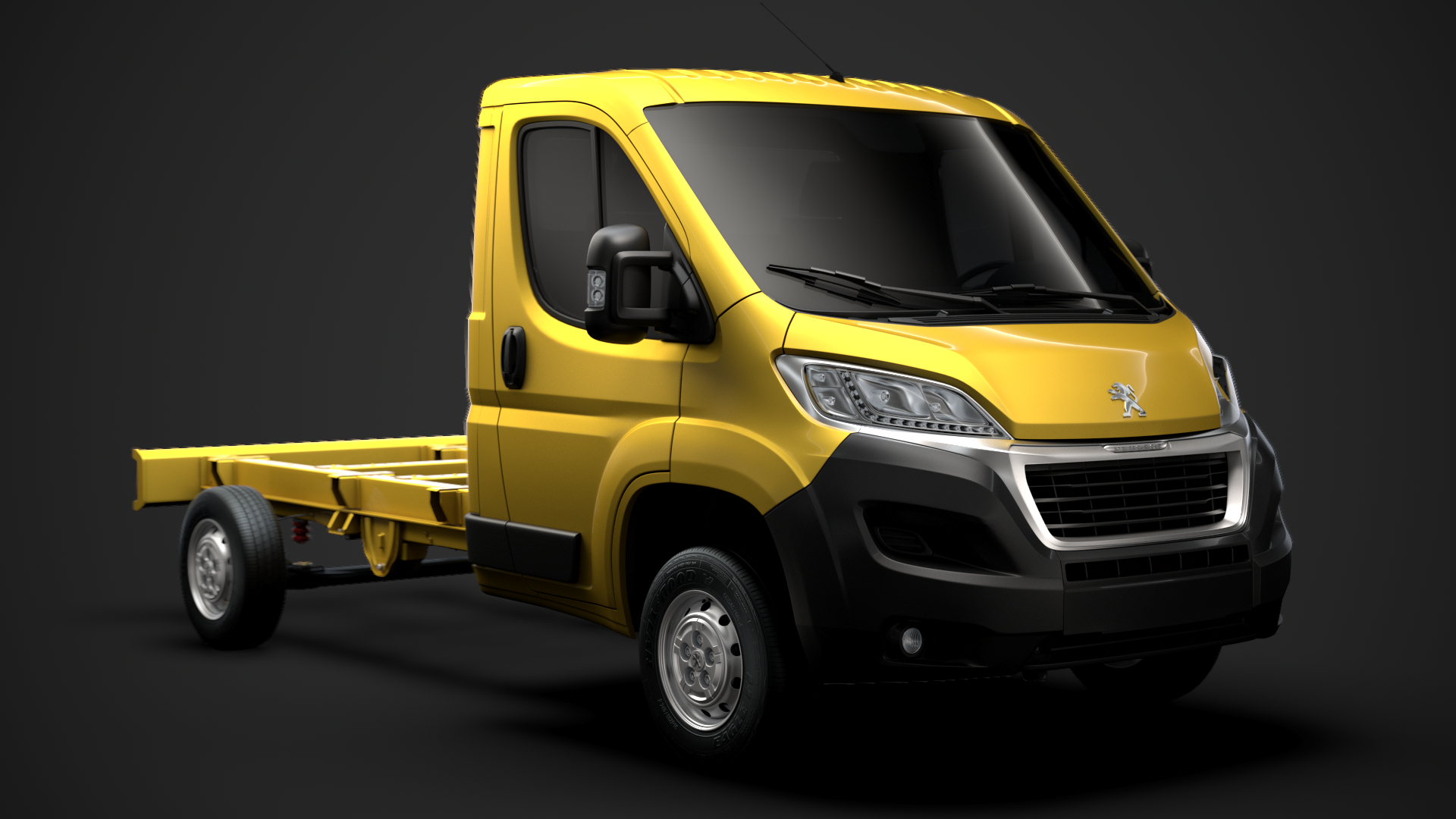 peugeot boxer chassis truck 3D model