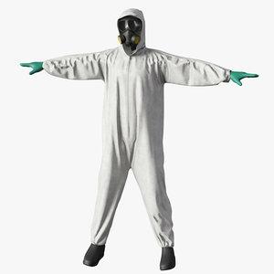 hazmat worker clothes 3d max
