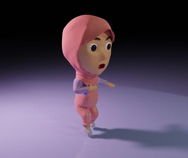 3D model animation girl