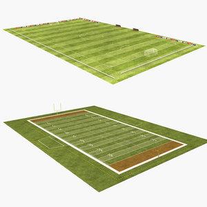 american football field soccer model