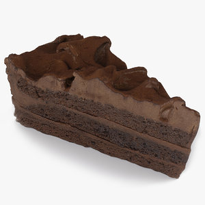 realistic cake 02 3D model