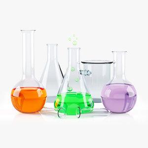 3D chemical flasks