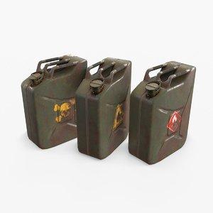 3D model oil jerrycan asset