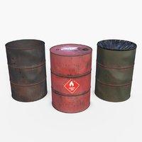 barrels asset 3D model