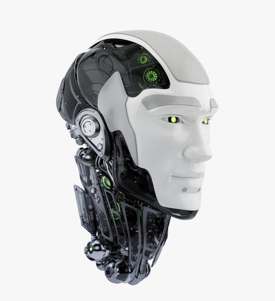 3D cyborg head ii