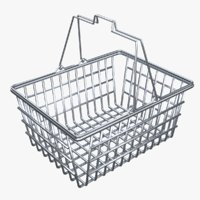 Empty Metal Shopping Basket