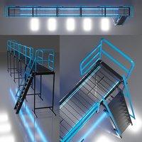 platform ladder railings assemblies 3D model