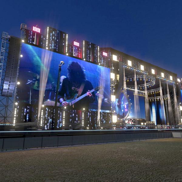 3D mega live stage scene