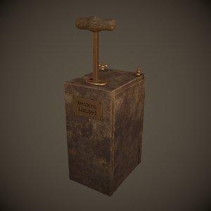 dynamite detonator 3D