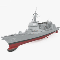 3D akizuki-class akizuki class model