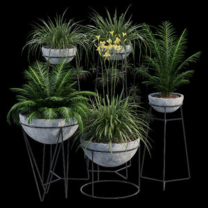hemisphere flowerpot 3D