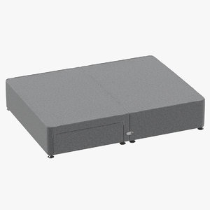 3D bed base 05 grey model