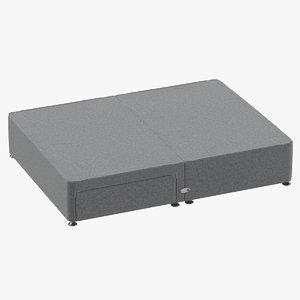 3D bed base 05 grey model