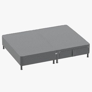 3D bed base 06 grey