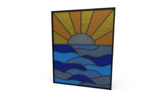 stained glass sunset 3D model