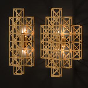 pontes lamps light 3D model