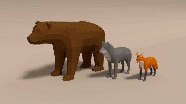 3D forest animals