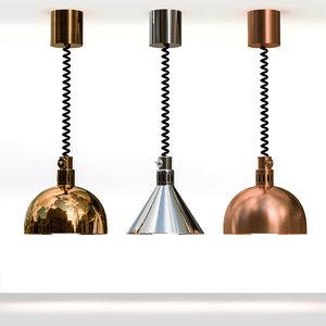 3D restaurant heat lamp hatco model