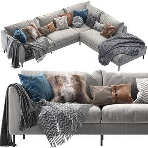 corona pohjanmaan loft corner sofa 3D