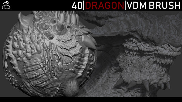 dragon brushes scales zbrush 3D