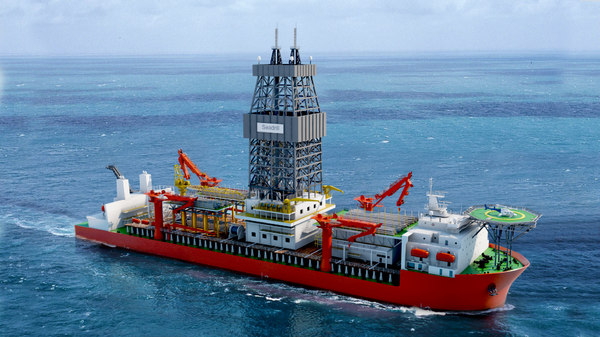 3D model seadrill drill ship vessels