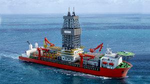 3D model seadrill drill ship vessels