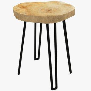 3D loft stool model