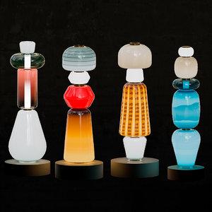 3D salviati glass model