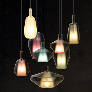 3D mom lamps glass