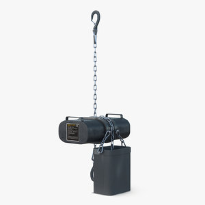 electric chain hoist 3D model