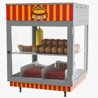 hot dog display 3D model