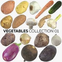 3D vegetables 01 - 17 model