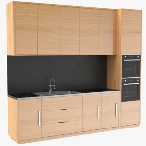 real kitchen unit 3D