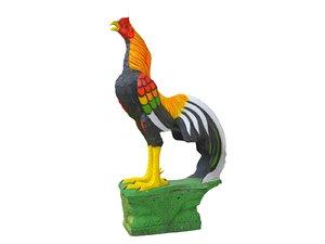 sculpture rooster 3D model
