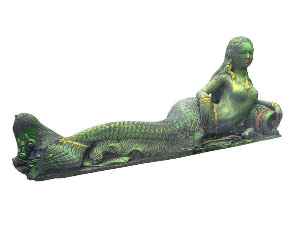 3D model siren sculpture