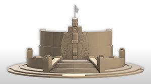 3D yucatan monument model