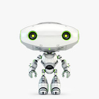 3D lovely frog robot toy-companion