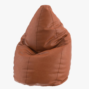 3D model realistic bean bag