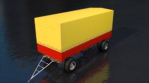 generic truck cargo trailer 3D model