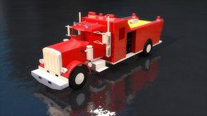 red firefight truck 3D