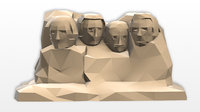 Low Poly Mount Rushmore