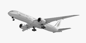3d model boeing 787-9 dreamliner plane