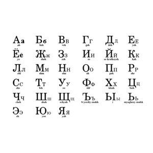 russian alphabet model