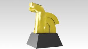 3D model mexico monument caballito
