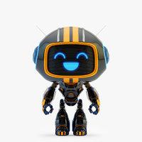lovely black robot - model