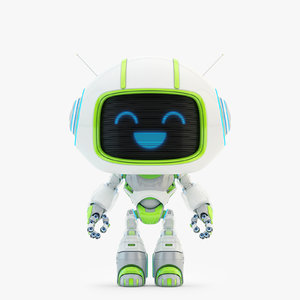 lovely robot - companion 3D