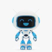 3D model companion lovely robot