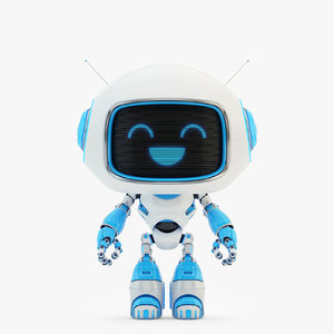 3D model companion lovely robot