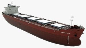 cargo ship hampton bridge 3D model
